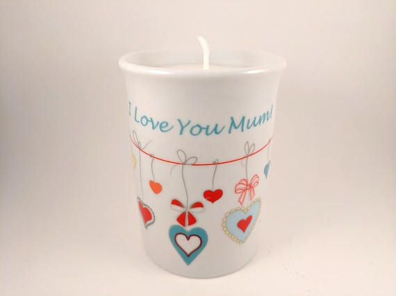 Handmade Marc Jacobs Daisy Candle in an I Love You Mum Mug