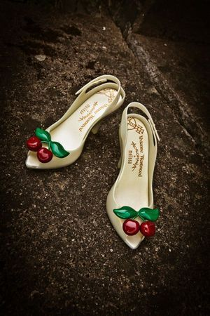 Vivienne Westwood Cherry Shoes.    www.lovemydress.net -- VW is a shoe GODDESS. These are definitely my dream pair of shoes.