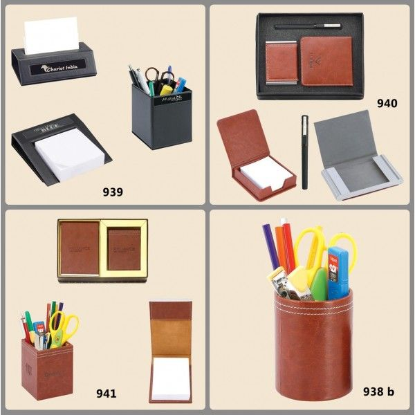 Leather Pen Stand With Note Pad personal magnetic note pads. #customgifts