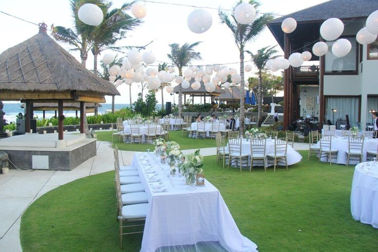 Wedding dinner set up for up to 125 guest at Puri Salila, Anapuri Villas. #Anapuri #Bali www.anapurivillas.com