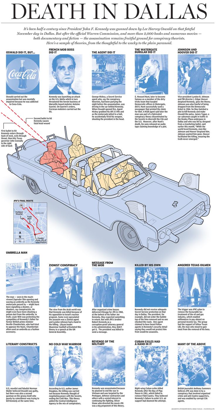 Death in Dallas , infographic by Araminta Wordsworth, Mike Faille | National Post