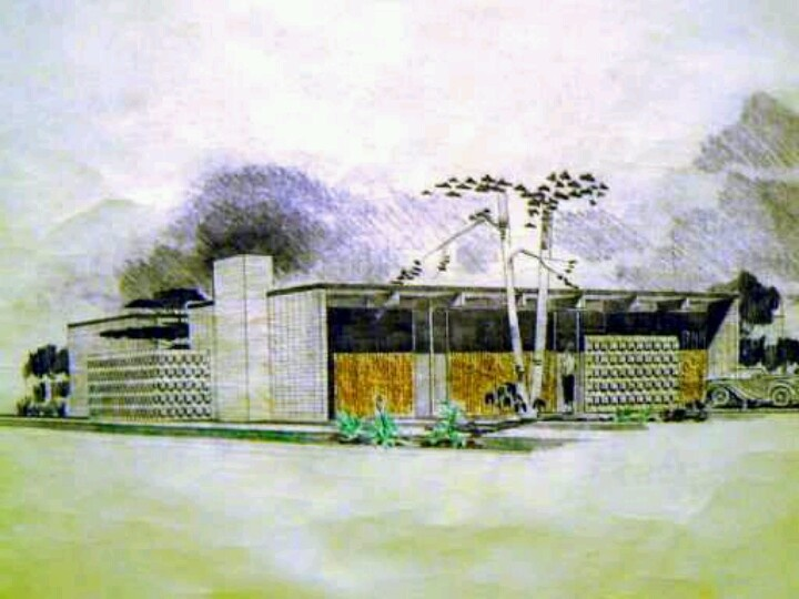 Mid Century Modern Architecture 119 best art/painting mid-century modern architecture images on