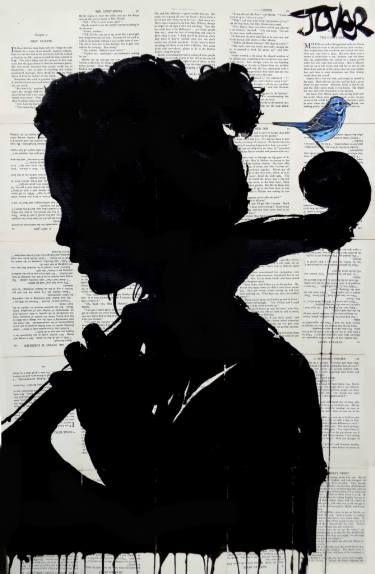 "Saatchi Art Artist Loui Jover; Drawing, ""the cello player"" #art"