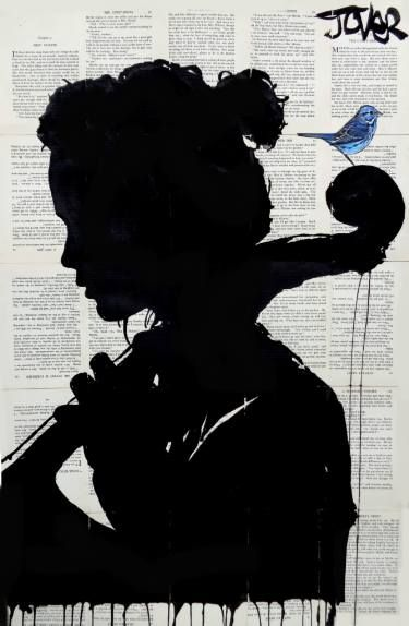 "Saatchi Art Artist Loui Jover; Drawing, ""the cello player"" #art"