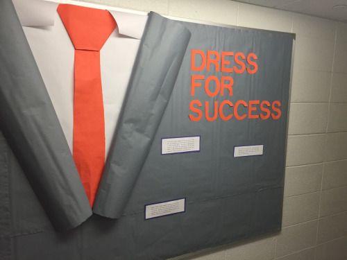 bulletin board design for high school that looks like a tuxedo - Google Search