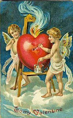 Happy Valentine's Day  Ascension Center Church - Metaphysicians Antique Valentine 1909 01.jpg