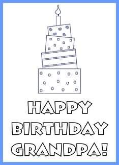 Free Printable Coloring Birthday Card For Uncle