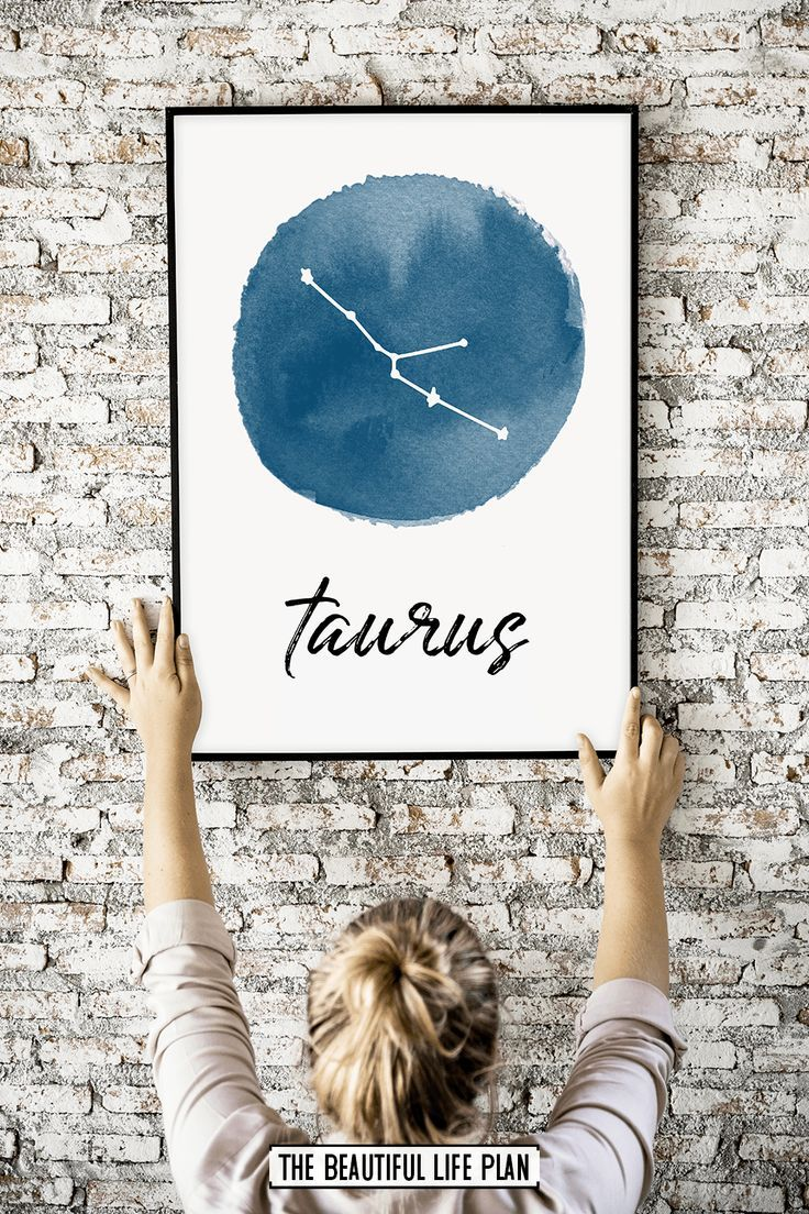 Taurus Constellation Print, Printable Zodiac Sign Wall Art – Digital Download Art Print – Etsy Handmade Styles! PIN FOR PIN BOARD! *