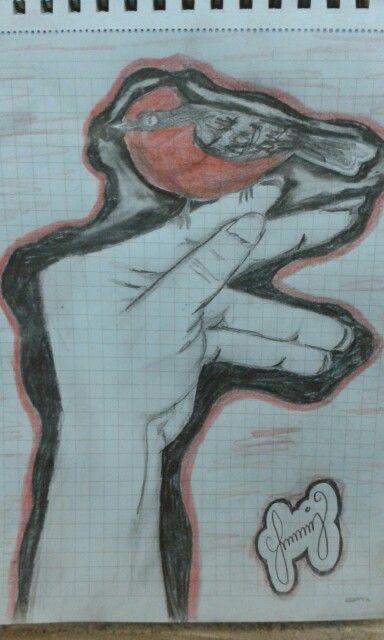 Karakalem kuş