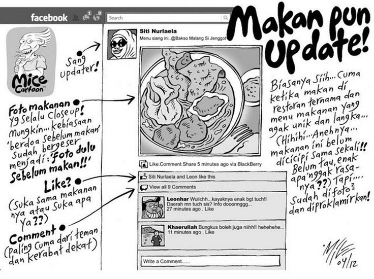 Mice Cartoon, Kompas: Makanpun update