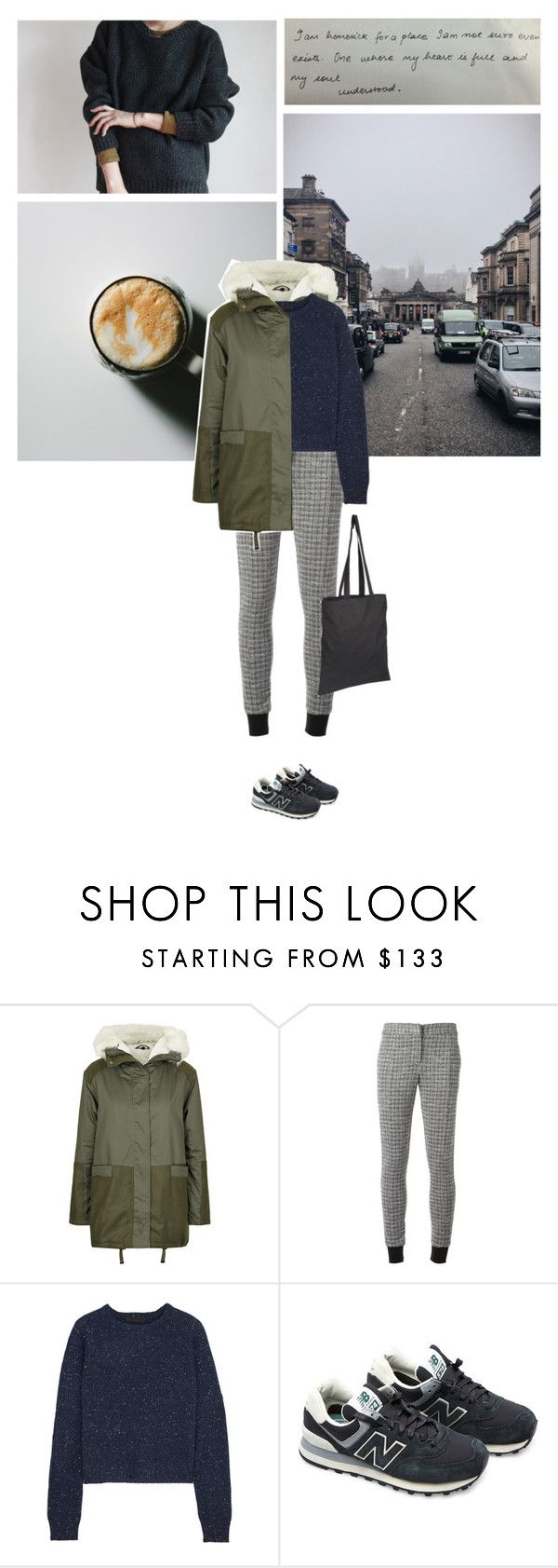 """""""""""I remained too much inside my head and ended up losing my mind."""" -Edgar Allan Poe"""" by are-you-with-me ❤ liked on Polyvore featuring Topshop, Thakoon Addition, Alexander Wang and New Balance"""