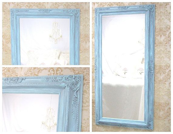 "Large Full Length Mirror For Sale 53""x 27"" BAROQUE DECORATIVE MIRROR Long Leaning Mirror French Country Framed Mirror Shabby Chic Home on Etsy, $329.00"