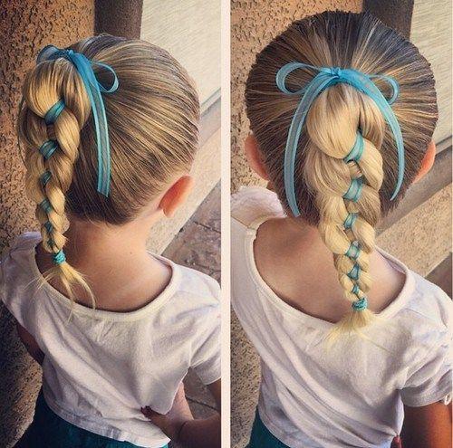 toddler+girl+braided+ponytail+for+long+hair