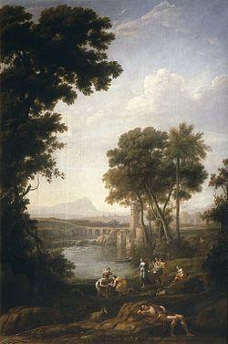 Paisaje con Moisés salvado de las aguas del Nilo es un cuadro realizado por el…
