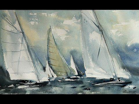 Константин Стерхов - Учимся рисовать морские пейзажи акварелью. - YouTube