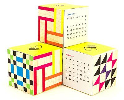 How About Orange - printable cube desktop calendar