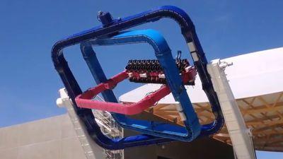 3軸が座席をあらゆる方向に振り回して平衡感覚が消滅する新型回転系絶叫マシン「TOURBILLON」