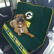 "Official NFL Pet Car Seat Cover. Keep your car clean, free of pet hair and support your favorite team! <ul class=""bullet"">  <li>Soft quilted ultra suede on top</li>  <li>Skid proof material on bottom</li>  <li>Contrast trim</li>  <li>Team Logo Embroidery</li>  <li>Printed team band across bottom</li>  <li>55""W x 50""L</li> </ul> <strong>*****THIS..."