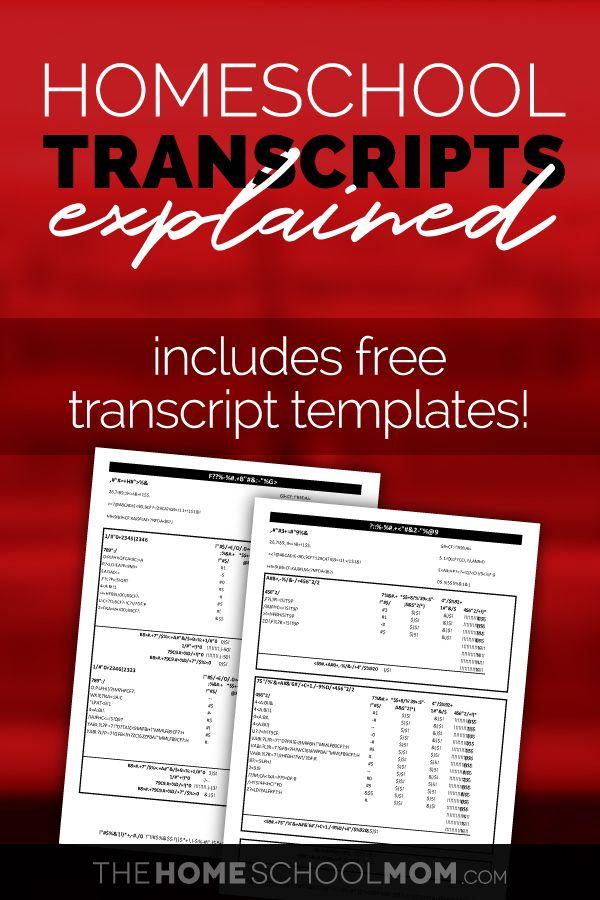 Homeschool Transcripts Defined—Spoiler Alert… They're Straightforward & Free!