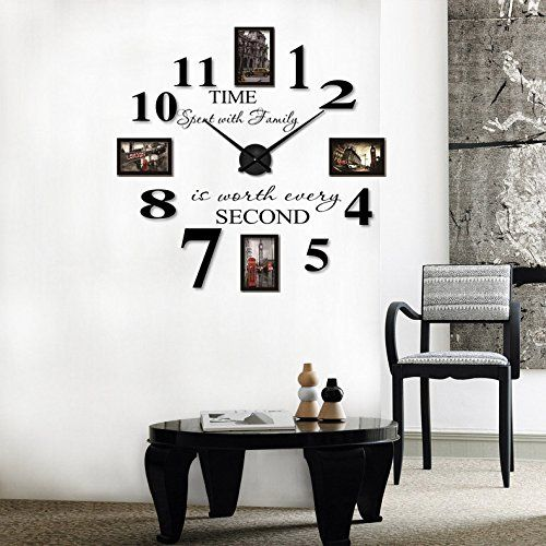 Extra Large Picture Frame Wall Clock  -Unique & Unusual Large Wall Clocks