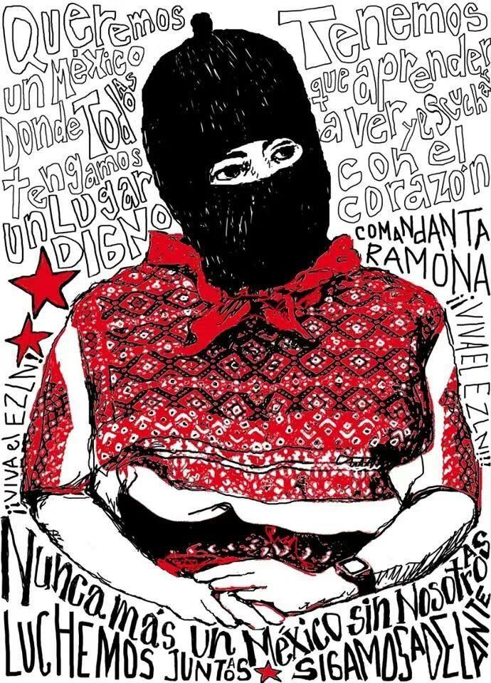 Comandanta Ramona a 10 años, vives en la lucha por la liberación del pueblo mexicano.