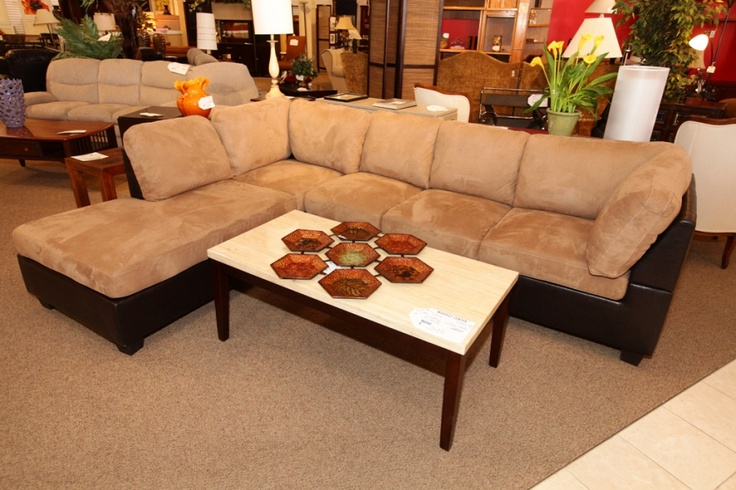 Beige Amp Brown Leather Sofa Sectional Colleen S Classic