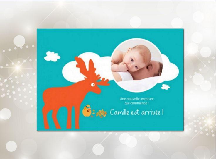 Le faire-part Renne Rêveur de par son ambiance hivernale est idéal pour les bébés nés durant les mois froids. Vous pouvez personnaliser cette carte avec deux photos de bébé qui viendront s'inscrire dans un cadre en forme de nuage et en pleine page à l intérieur. Le faire-part Renne Rêveur de 4 pages turquoise est adapté aux filles comme aux garçons, et existe aussi version recto-verso. #fairepart #naissance #renne #garçon #noël