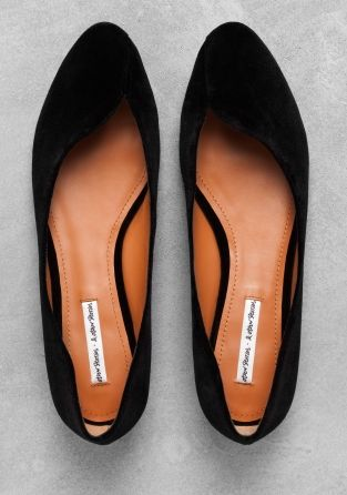 & OTHER STORIES - These ballerina flats feature a sturdy fabric upper and a clean, curved design.