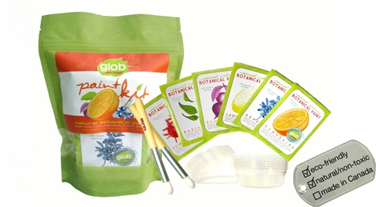 Eco paint kit - made from fruit & vegetables #eco #natural www.lavishandlime.com/Glob-Natural-Fruit-Vegetable-Paint-Kit-p-1511.html#