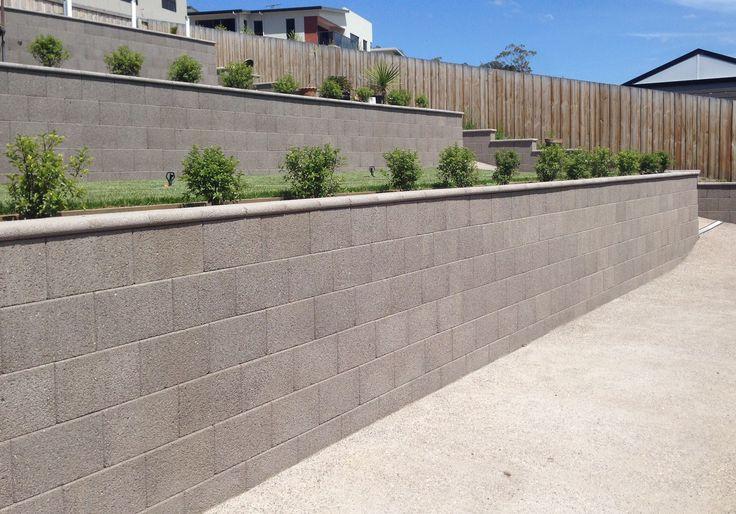 Freestone ECO Retaining Wall Blocks - Walnut Exposed Colour
