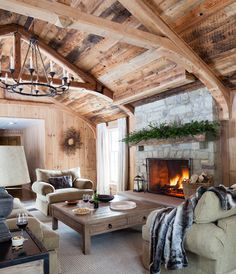 Get rustic, country & cozy winter hideaway decorating ideas for your own space.