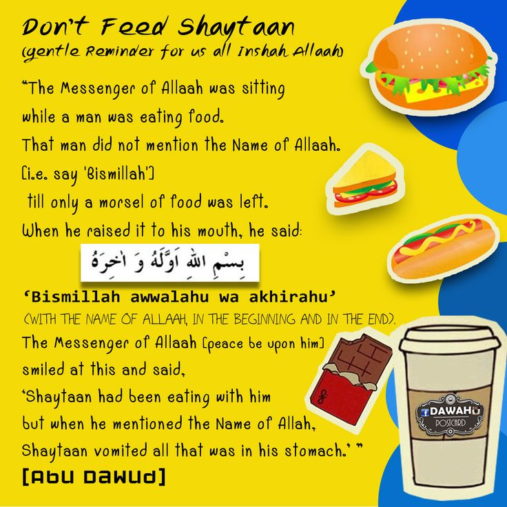 Hadith about eating.