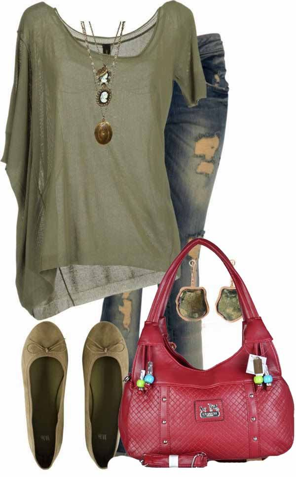 Still loving olive. No to that purse.