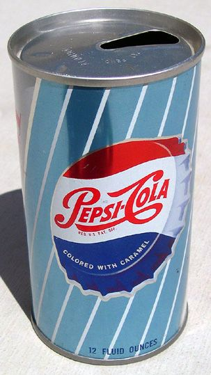 1960s Pepsi-Cola can.