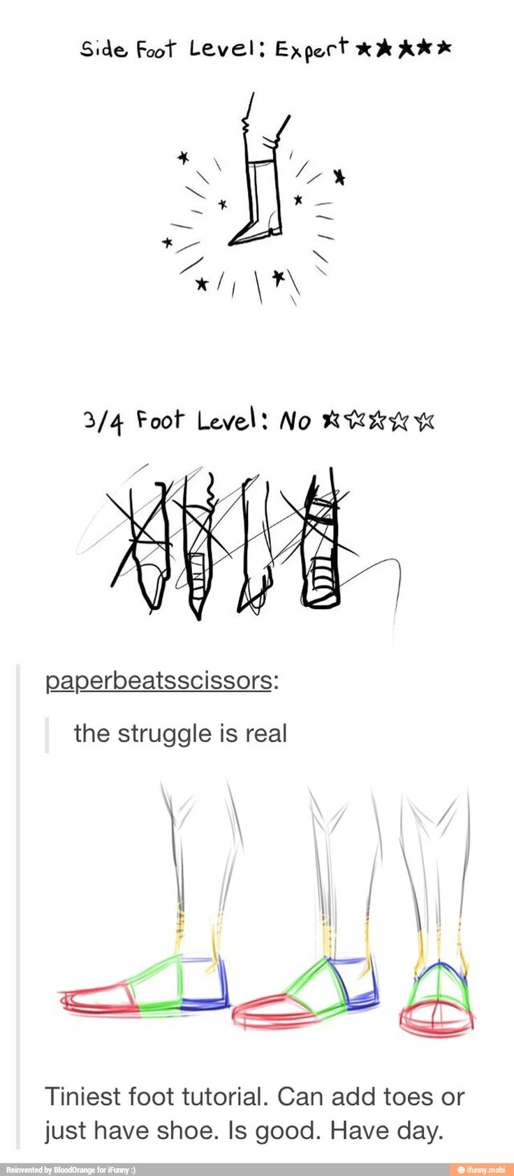 How to draw feet a much needed guide