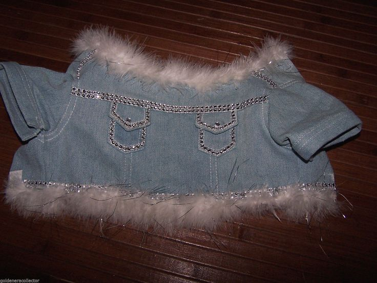 5TH Ave pet Denim Jacket Embellished with Rhinestones Small for that DIVA