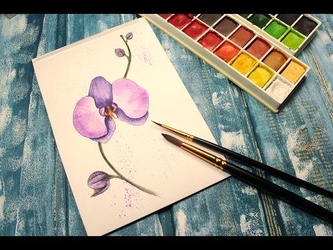 Рисуем орхидею. Рисуем цветы.  Уроки рисования. Просто - YouTube