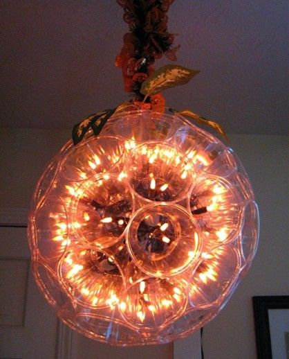 How To Make Your Own Sparkle Ball With Plastic Cups And Christmas Lights