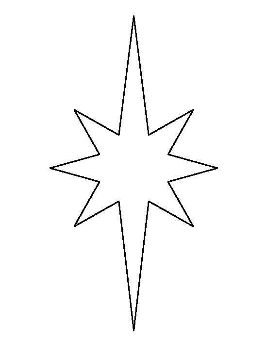 elongated star pattern use the printable outline for crafts creating