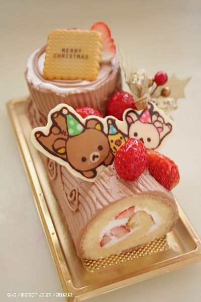 Rilakkuma Christmas Log Choco Cake