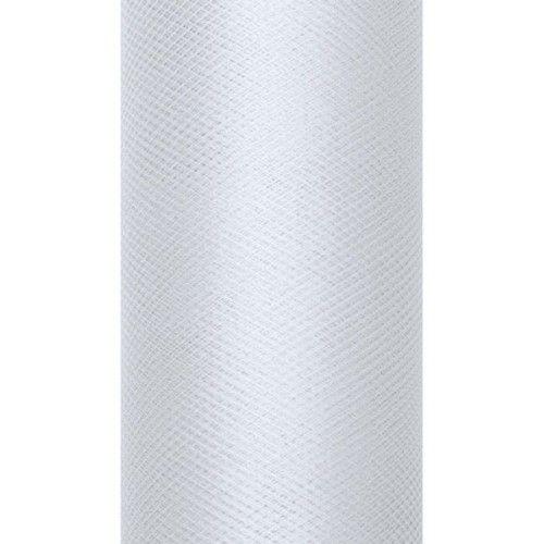 Tiul dekoracyjny 15 cm x 9 m j. szary 091J