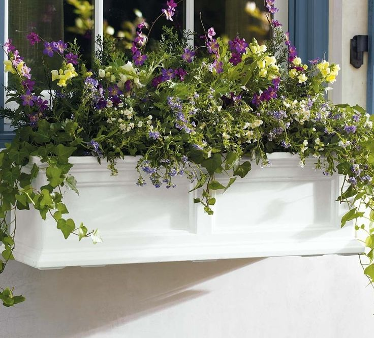 """""""Spend more time enjoying your blooms and less time watering. Devon Planters practically water themselves."""" — Grandin Road Editors"""