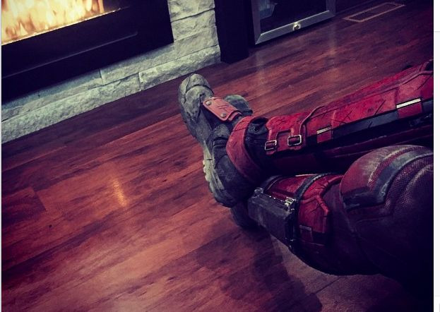 New Ryan Reynolds Deadpool Image Is A Visual Feet http://comicbook.com/2015/05/20/new-ryan-reynolds-deadpool-image-is-a-visual-feet/