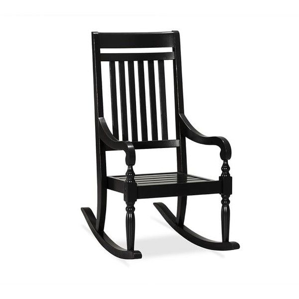 Pottery Barn Salem Wood Rocking Chair ($437) ❤ Liked On Polyvore Featuring  Home, Outdoors, Patio Furniture, Outdoor Chairs, Black, Wooden Outdoor  Chairs, ...