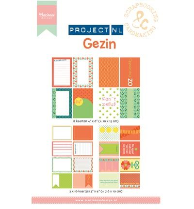 Marianne Design Project NL Card set - Gezin