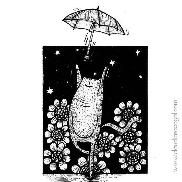🐱☔ . . . #illustration #gatos #animales #drawing #catsofinstagram #instaart #graphic #practice #catsofinstagram #mininos #cats #catslover #sketchbook #garabato #doodles #artist #umbrella #handdraw #love #amordegatos #modernart #skycat #pendrawing #instartist #instaartworks #artoftheday #instaillustration #bogotaart #lluvia #artofinstagram
