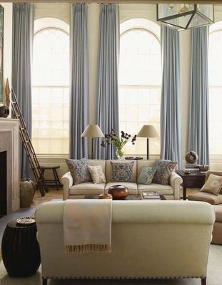 Some Seriously Romantic Drapes Library windows: drapes for tall windows