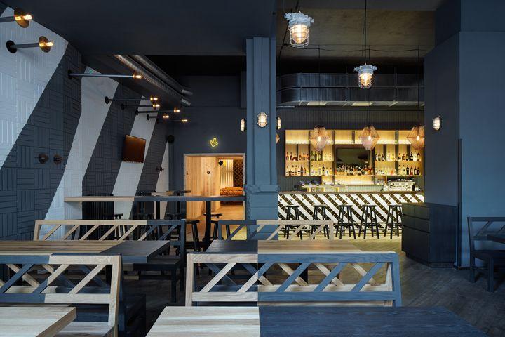 Rebel Wings restaurant / bar by studio minio Prague  Czech Republic