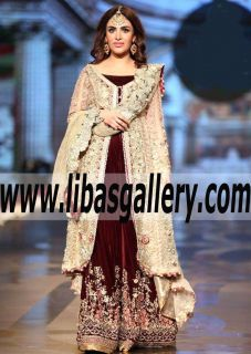 Outstanding Bridal Gown with Awesome Embellishments for Wedding and Special Occasions - #asifaandnabeelbridalcouture Dress like a diva with our favorites from #BCW #premium #designer #luxury #brand #style #fashion #online #shopping #destination #portal www.libasgallery.com #UK #USA #Canada #Australia #France #Germany #SaudiArabia #Bahrain #Kuwait #Norway #Sweden #NewZealand #Austria #Switzerland #Denmark #Ireland #Mauritius #Netherland  #BeautifulBridalGown #WeddingGowns #shopping #Lehenga