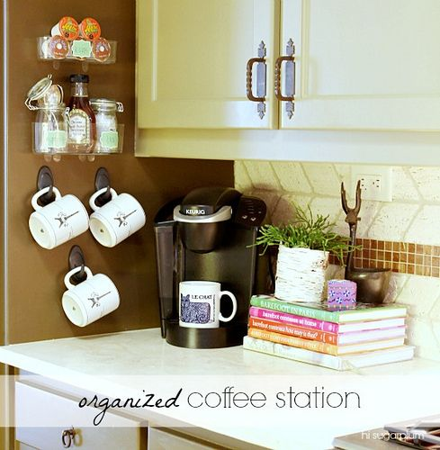 Hi Sugarplum | Organized Coffee Station by hi sugarplum!, via Flickr